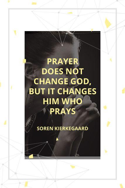 Plantilla de diseño de Religion Quote with Woman Praying Tumblr