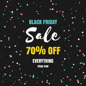 Black Friday with Bright spinning flickering elements