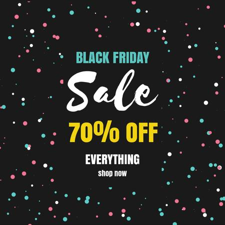 Ontwerpsjabloon van Animated Post van Black Friday with Bright spinning flickering elements