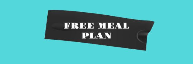 Template di design Fitness Meal plan promotion Email header