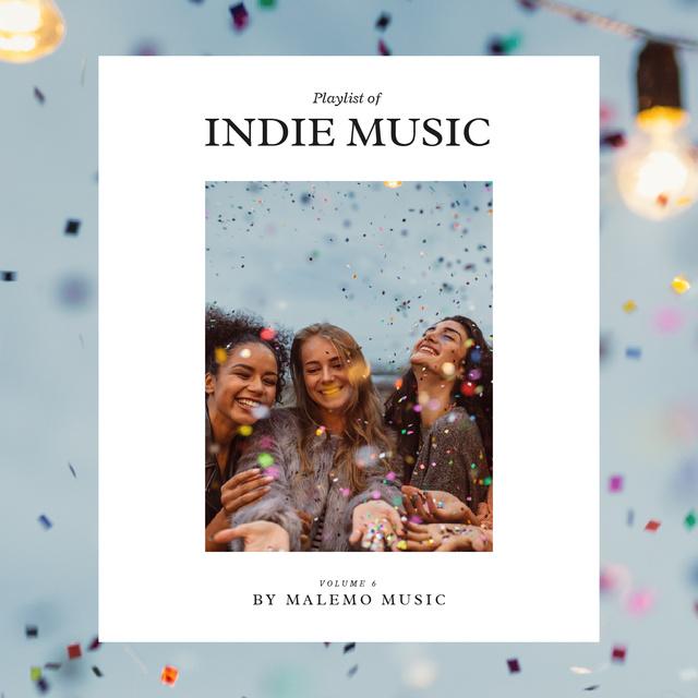 Young Girls having fun Album Cover Modelo de Design
