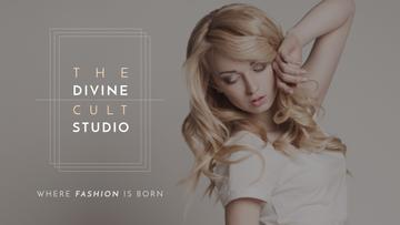 Studio Ad with Attractive Blonde