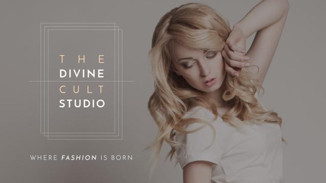 Template di design Studio Ad with Attractive Blonde Youtube