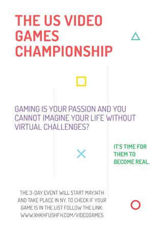Template di design Video games Championship Poster