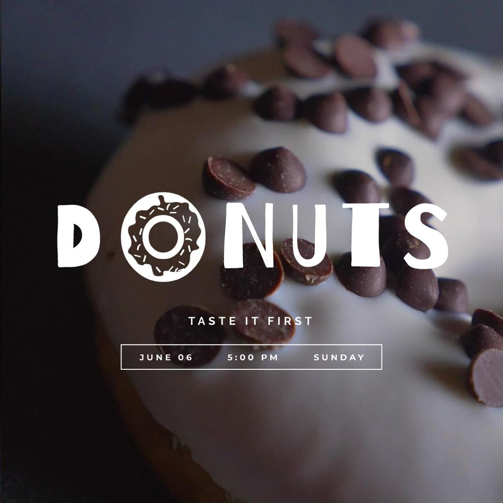 Sweet glazed doughnut — Создать дизайн