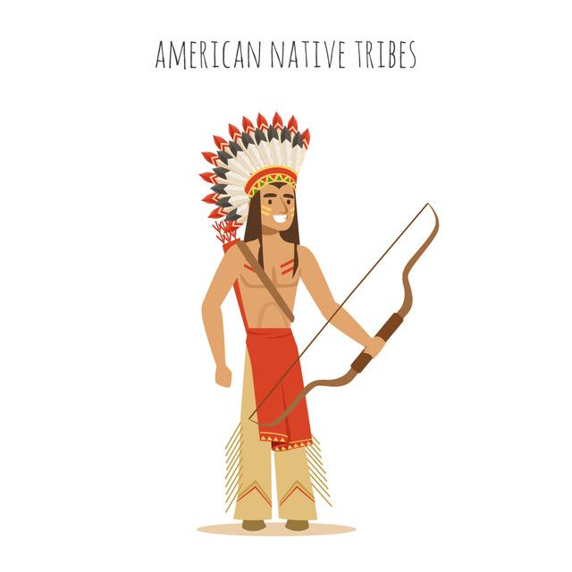 Plantilla de diseño de Native American shooting with arrow Animated Post