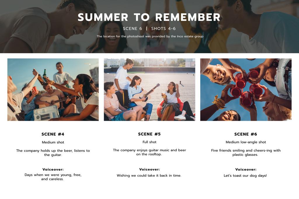 Friends having fun in Summer — Создать дизайн