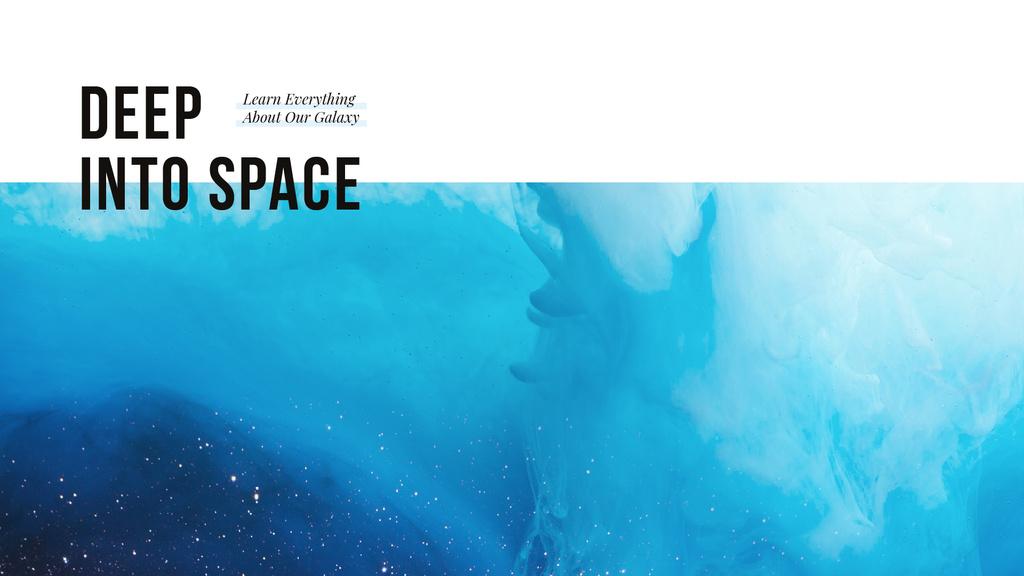 Deep into space — Создать дизайн