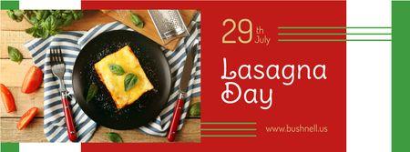 Template di design Italian lasagna dish Day Facebook cover