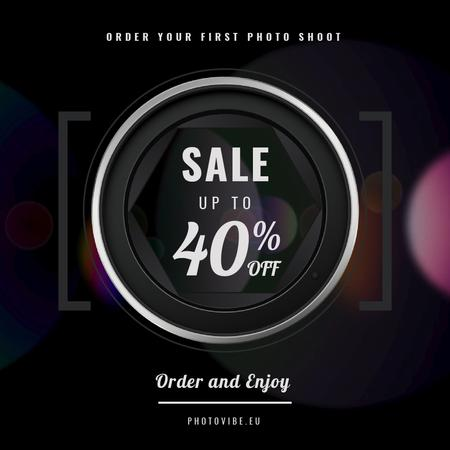 Plantilla de diseño de Photography Offer with Closing Shutter View Animated Post