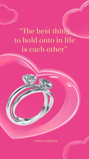 Ontwerpsjabloon van Instagram Story van Wedding rings with Diamonds
