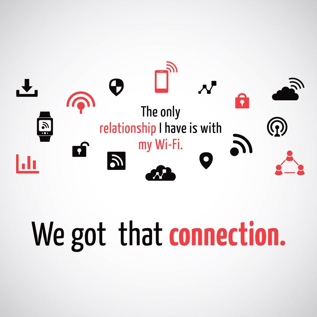 Wi-Fi technology sign and icons — Modelo de projeto