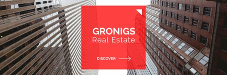 Ontwerpsjabloon van Email header van Real Estate company offer