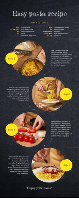 Food Infographics How to cook pasta Infographicデザインテンプレート