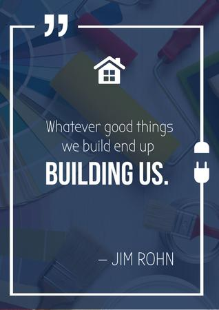 Inspirational Quote about Building Posterデザインテンプレート