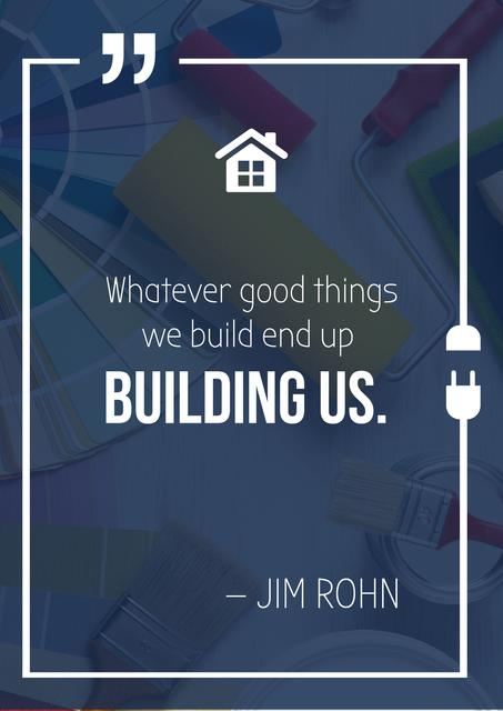 Template di design Inspirational Quote about Building Poster