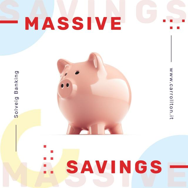 Plantilla de diseño de Savings Service Ad Ceramic Piggy Bank Instagram