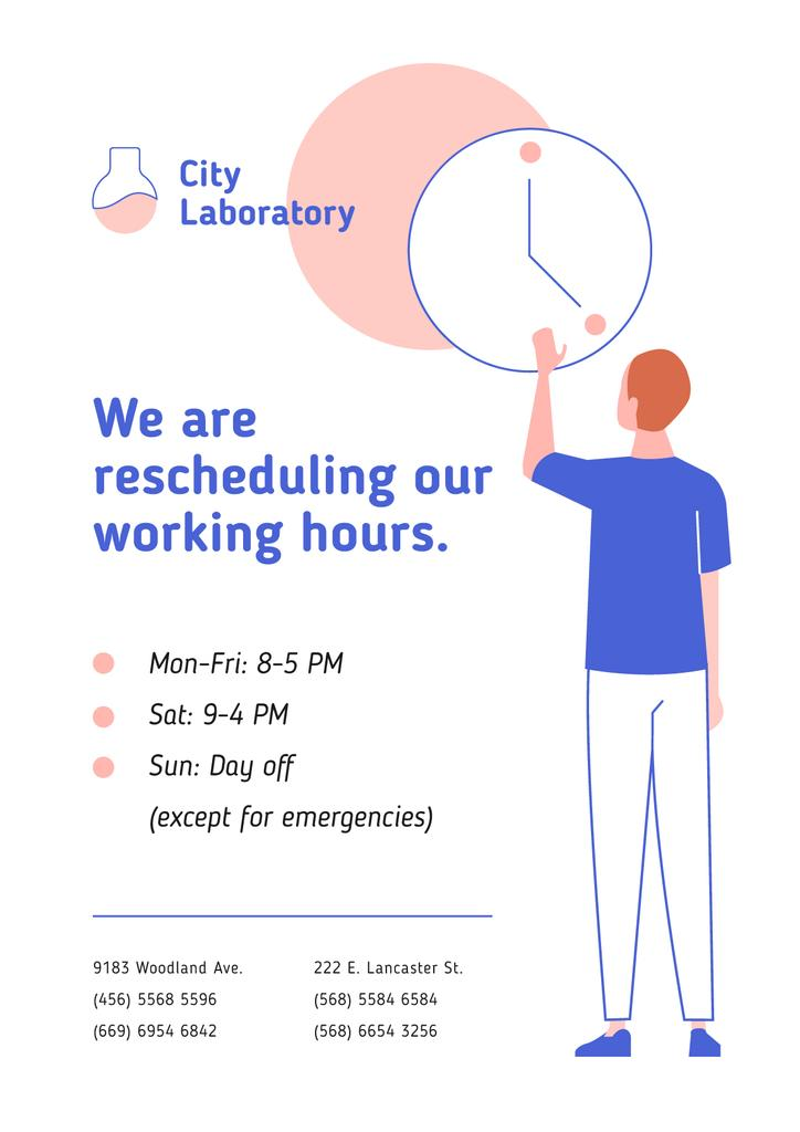 Test Laboratory Working Hours Rescheduling during quarantine — Modelo de projeto