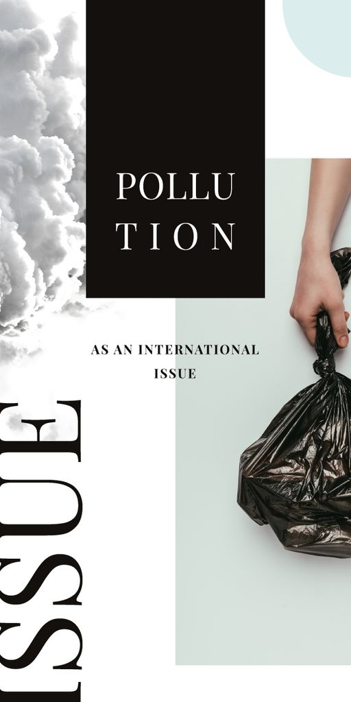 Hand with garbage bag — Crea un design