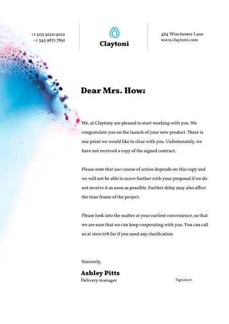 Business Agency Job Offer Letterhead Design Template