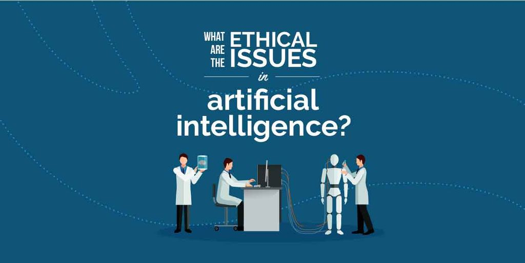 Ethical issues in artificial intelligence illustration — Maak een ontwerp