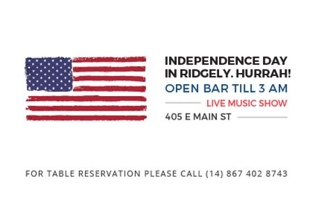 Plantilla de diseño de Independence day in Ridgely Postcard