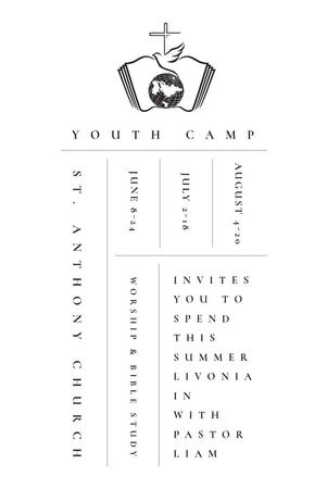 Ontwerpsjabloon van Pinterest van Youth religion camp of St. Anthony Church