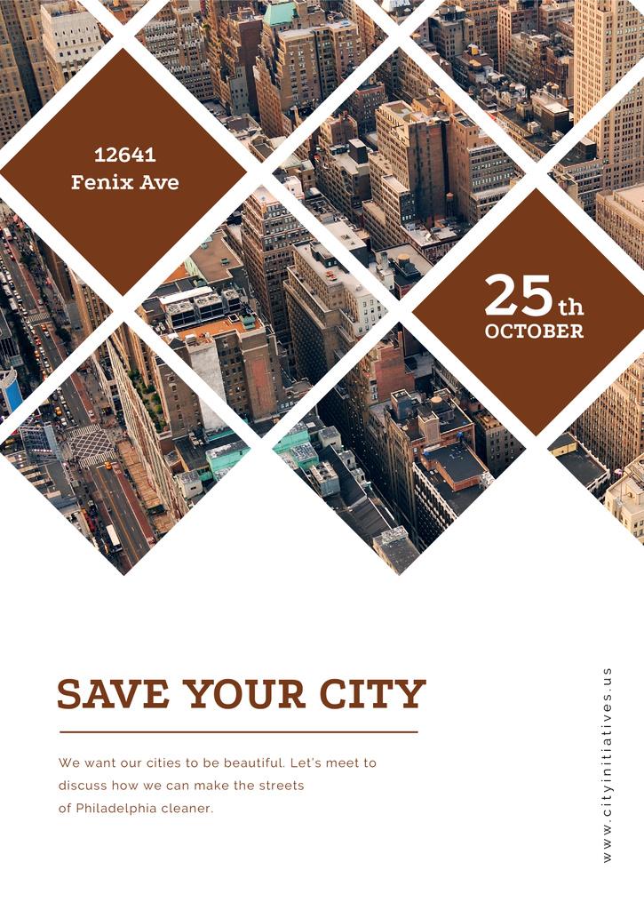 Save your city event announcement — Crea un design