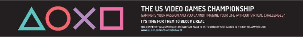 Designvorlage Video games Championship  für Leaderboard