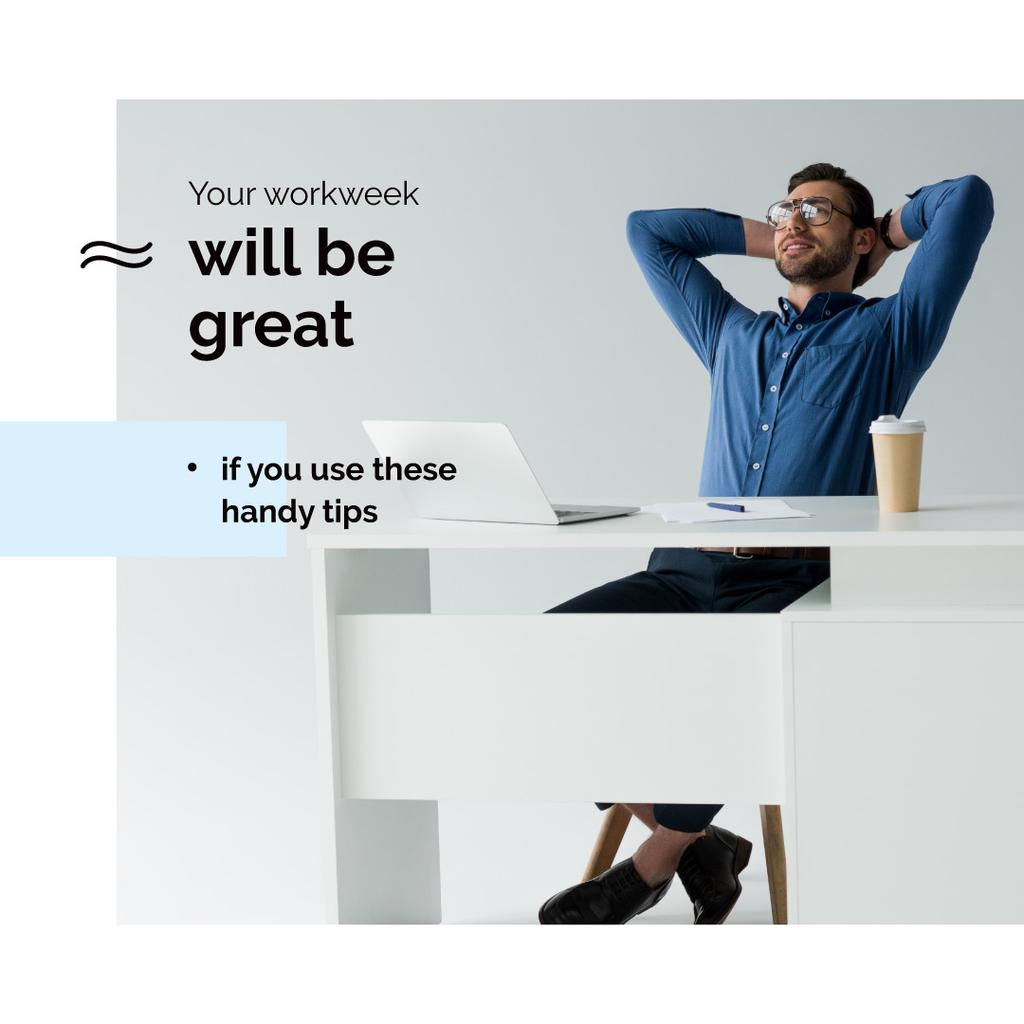 Working Tips with businessman in office — Crear un diseño