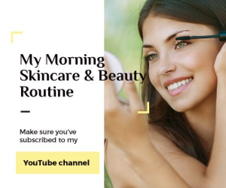 Szablon projektu Skincare and beauty youtube channel Medium Rectangle