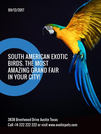 Template di design Exotic Birds fair Blue Macaw Parrot Poster US