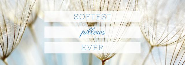 Ontwerpsjabloon van Tumblr van Softest Pillows Ad Tender Dandelion Seeds