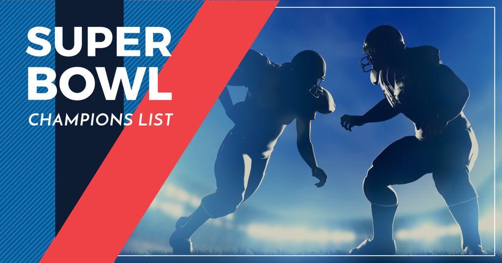 Super bowl champions list banner — Maak een ontwerp