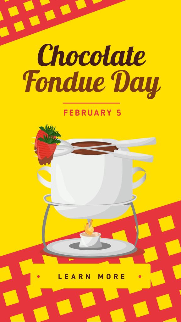 Hot chocolate fondue Day — Créer un visuel
