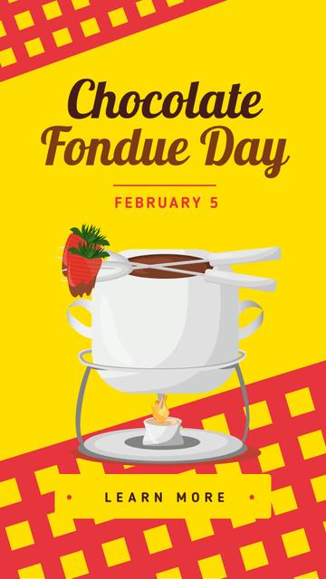 Designvorlage Hot chocolate fondue Day für Instagram Story