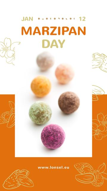 Marzipan confection Day Instagram Story Design Template