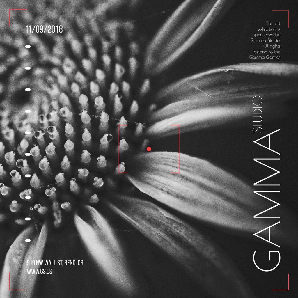 Exhibition in gamma studio announcement — Створити дизайн