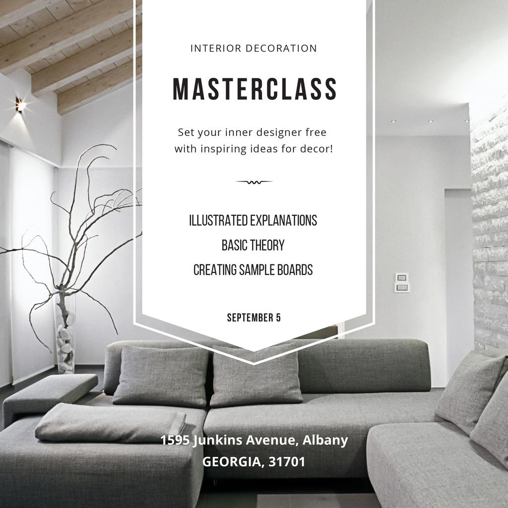 Interior decoration Masterclass with Stylish Room — Crea un design