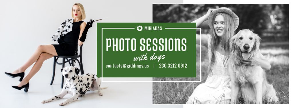 Photo Session Offer Girls with Dogs — Створити дизайн