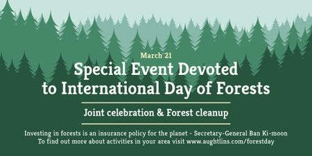 International Day of Forests Event Announcement in Green Image Tasarım Şablonu