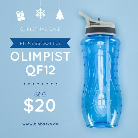 Christmas Sale Water Bottle in Blue Instagram Modelo de Design