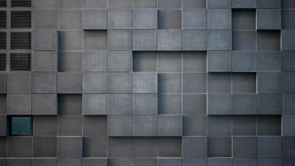 Concrete wall with cube bricks Zoom Background – шаблон для дизайна