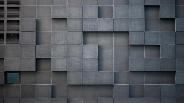 Plantilla de diseño de Concrete wall with cube bricks Zoom Background