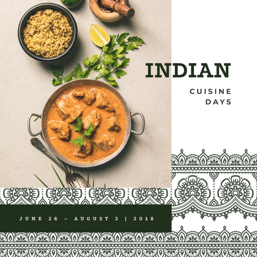 Indian cuisine dish — Créer un visuel