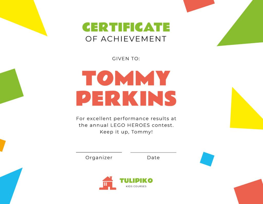 Kids Creative Contest Achievement — Crear un diseño