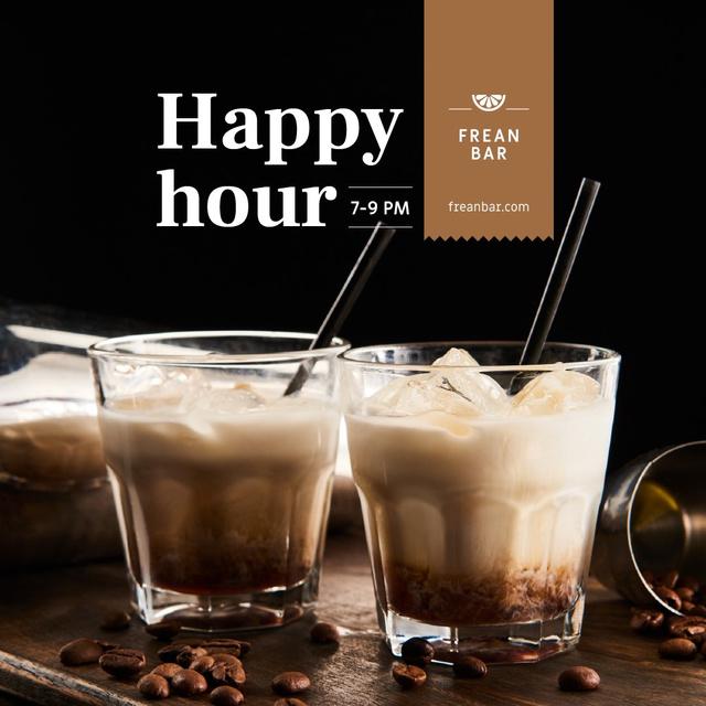 Ontwerpsjabloon van Instagram van Special Offer with Coffee Coctails