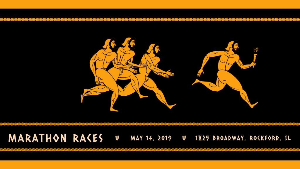 Ancient Marathon race — Maak een ontwerp