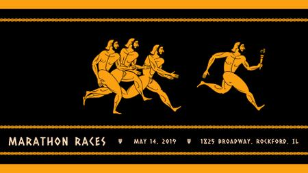 Ancient Marathon race Full HD video Design Template
