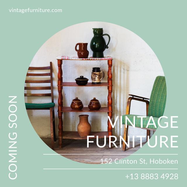 Vintage Furniture Shop Ad Antique Cupboard Instagram AD Modelo de Design